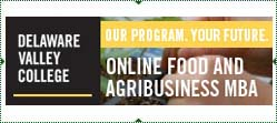 Delaware Valley College: Our Prgram Your Future. Online Food and Agribusiness MBA