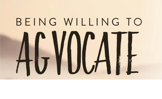 Be Willing to Agvocate