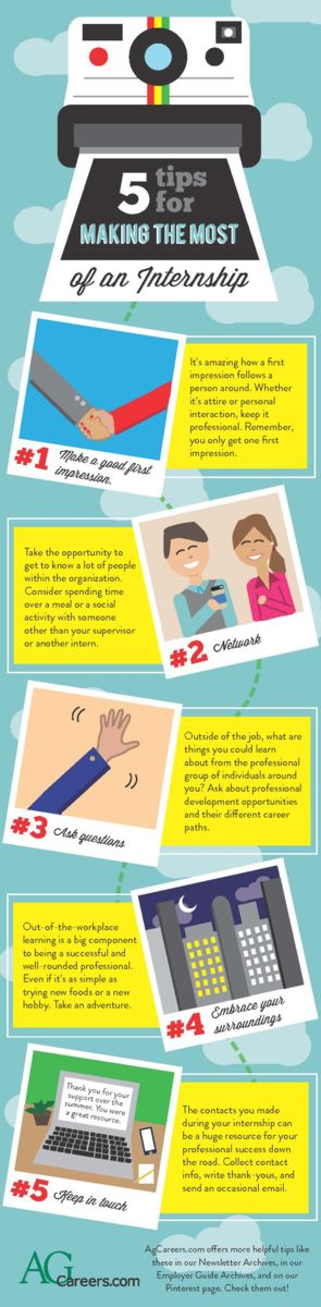 5 Tips For Making The Most Of An Internship Infographic