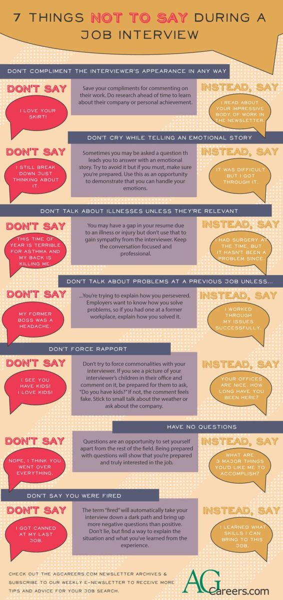 7 things not to say during a job interview