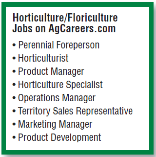 Horticulture list of careers for college