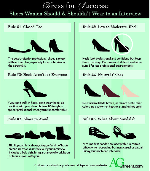 dress for success  shoes women should  u0026 shouldn t wear to